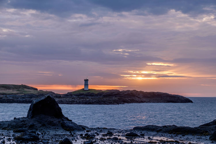 Dawn ELIE Firth Of Forth Golden Hour Lighthouse Nature Outdoors Rocks Schottland Sea Shore Sky Water