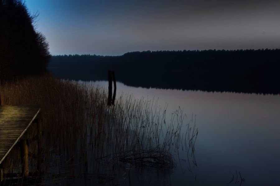 Steg Wasser See Dämmerung The Great Outdoors - 2015 EyeEm Awards Nature On Your Doorstep Protecting Where We Play After Dark Learn & Shoot : After Dark Drewitz, Mecklenburg Vorpommern