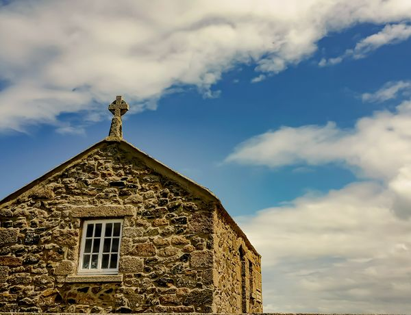 Stone cottage Architecture No People Sky Cloud - Sky Building Exterior Low Angle View Roof Outdoors Day Landscape_Collection Rural Scene Rural Photography Scenics Sky And Clouds Cottage Life Cottage House Cottages By The Sea Buildings & Sky