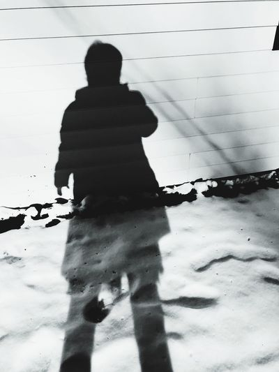 Real People One Person Rear View Day Standing Childhood Silhouette Outdoors Shadow Full Length People
