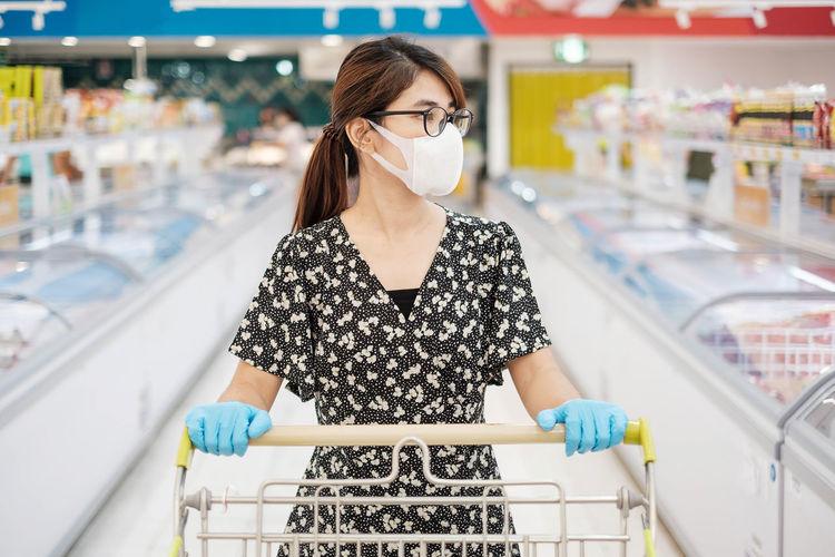 Woman standing in market