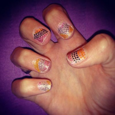 Nailfix! Naglar Putiton Love Nailstickers Nails Nailart glitter nytt prickar