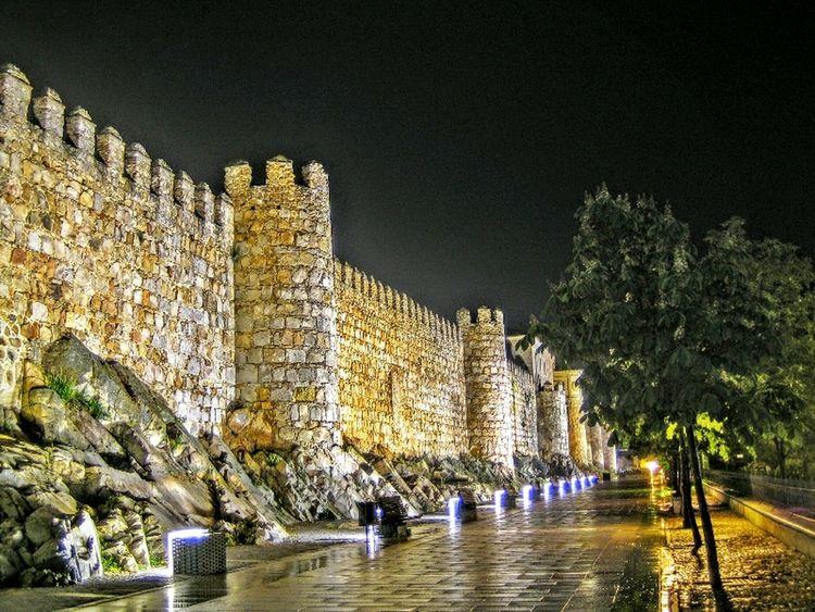 The walls of Avila Avila AvilaMedieval Walls Murallas SPAIN Medieval Castillayleon Night Noche