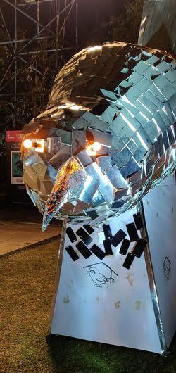 Illuminated Technology Communication Close-up