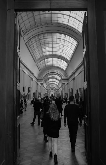 Louvre museum Arch Architectural Feature Architecture Arcitecture B&w Black And White Built Structure Ceiling Exterior Flooring Fuji Fujifilm In A Row Indoors  Perspective Walking Wall Women X100 X100S Xseries