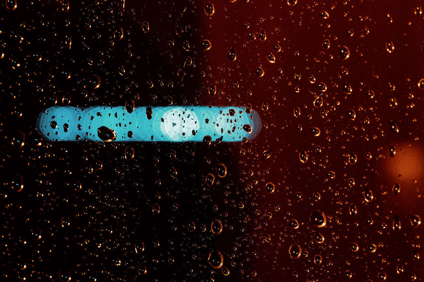BAD CONDITIONS Drop Wet Water No People Close-up Rain Indoors  Blue Nature Glass - Material Full Frame Backgrounds RainDrop Transparent Car Night Single Object