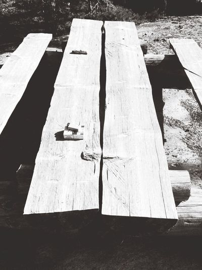 Summer Table Wood - Material Outdoors Blackandwhite Cigarette
