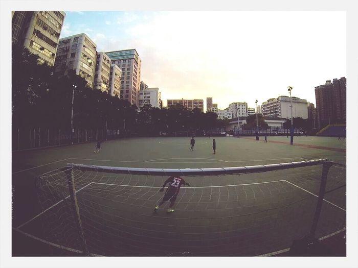 an extraordinary sunset Sunset Football Footballislife HongKong