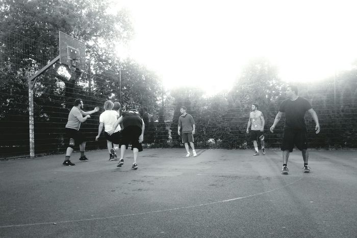 Friday pick-up. Basketball Streetphotography Streetphoto_bw Blackandwhite My Hobby Sport In The City