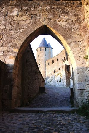 Architecture Arch History Door Built Structure Ancient Tourism Day No People Indoors  Carcassone, France France Castle Fort Light And Shadow Architecture Sunlight