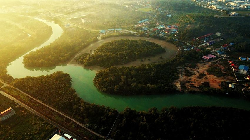 🎗️ Mavicpro EyeEm Selects Aerial View Aerialphotography Eyebird Johor, Malaysia Topdown No People Water Nature Day Tree Outdoors Plant High Angle View Full Frame Green Color Backgrounds Beauty In Nature Reflection Close-up Land