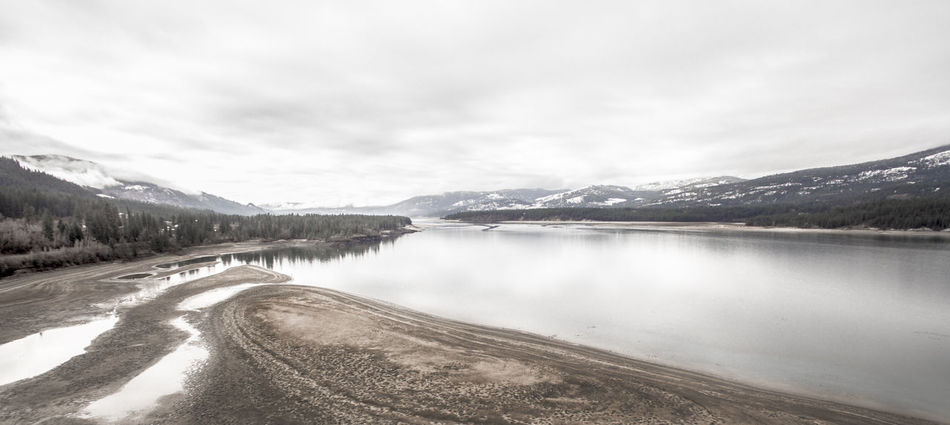 Aerial Photography Aerial View Beach Beauty In Nature Cold Temperature Columbia River Dji Drone  Dronephotography Landscape Mountain Mountain Range Nature No People Outdoors PNW River Scenics Sky Snow Tranquil Scene Tranquility Washington Washington State Water