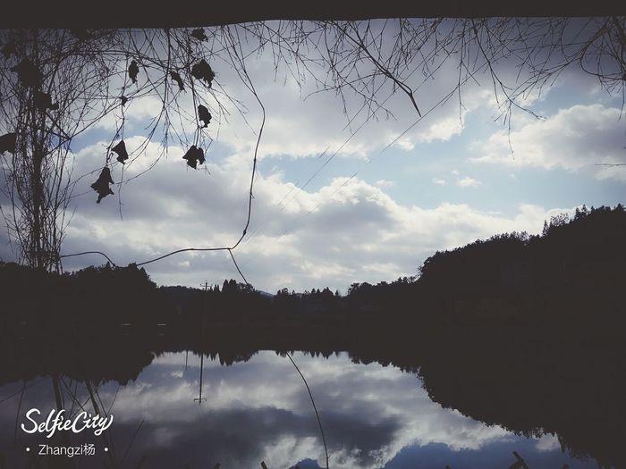 倒影 摄影控 滤镜 Reflection Water Sky Lake Nature No People first eyeem photo