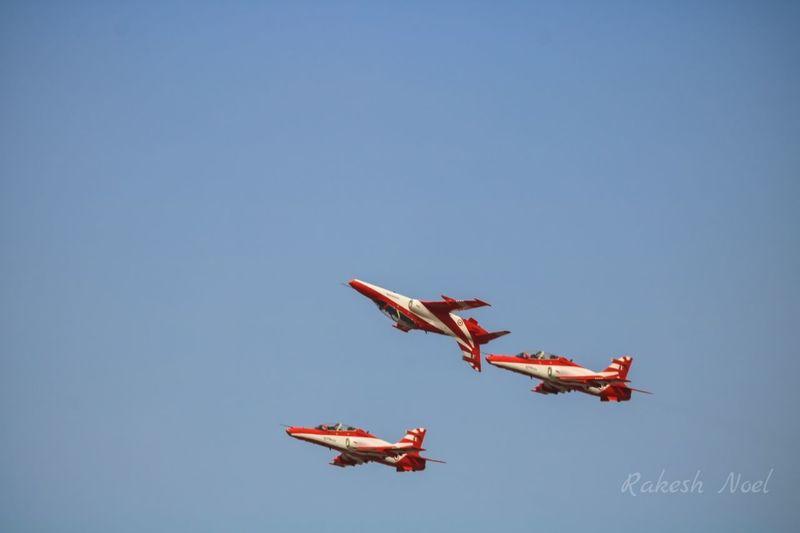 Airshow Flying Skill  Airplane Aerobatics Sky Clear Sky Teamwork Vapor Trail Stunt Suryakiran The Week On EyeEm