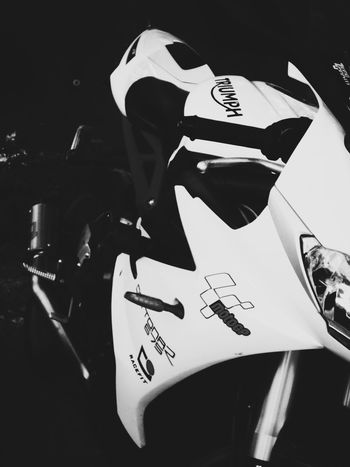 It's Daytona 😍. Adults Only Adult One Person One Woman Only Communication Only Women People Human Body Part Human Hand Indoors  Women Young Adult Portrait Triumphmotorcycles Triumph Motorcycle Triumph Daytona 675 Daytona Superbike SuperSport One Young Woman Only Close-up Day Black And White Friday