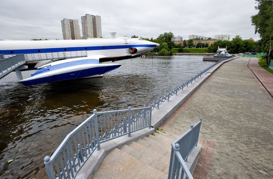 Russia, Moscow, the Museum of floating equipment Arrangement City Life Close Up Composition Connection Convenience Day Design Floor In A Row Journey Leading Order Perspective Railing Repetition Side By Side The Way Forward Wood Wood - Material Wooden Working