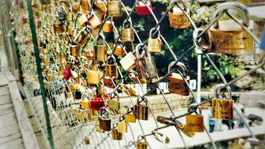 Padlock Security Love Lock Safety Abundance Protection Metal Love Heart Shape No People Luck Hope - Concept Day Railing Outdoors Variation Close-up Lock Perù 🇵🇪