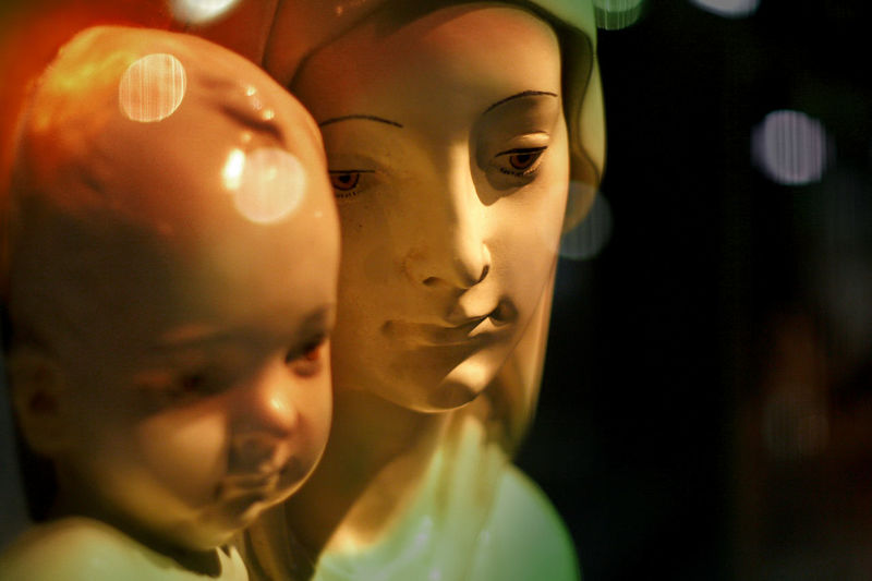 BabyJesus Christian Church Close-up Holy Jesus Love Maia  Man Made Object Mother Protection Still Life Sulpture