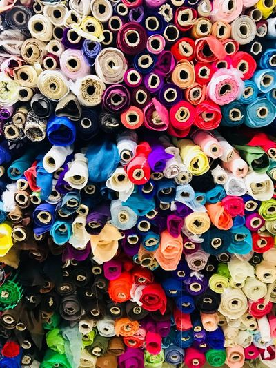 Multi Colored Large Group Of Objects Variation Full Frame Backgrounds Abundance Indoors  Textile Close-up