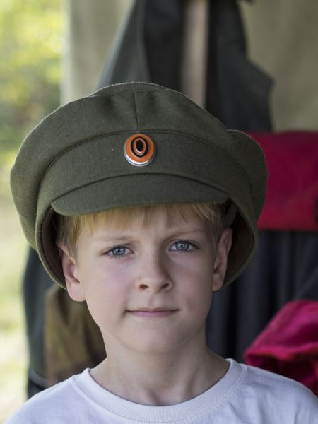Little Caucasian boy in cap officer of the White Army during the Civil War 1917 - 1921 in the Russian Empire 1821 1917 Army Boy Boys Cap Caucasian Childhood Civil Close-up Elementary Age Empire Focus On Foreground Front View Hat Headshot Innocence Little Looking At Camera Officer Person Portrait Russian War White