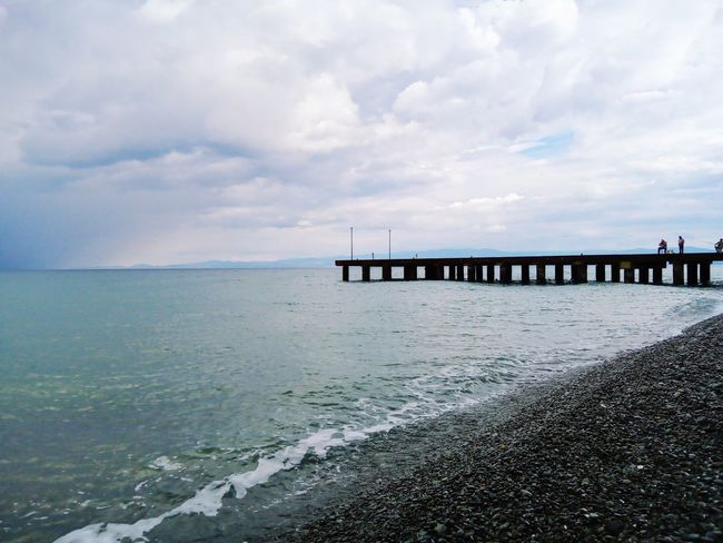 when a bridge breaks into the horizon EyeEmNewHere Water Sea Beach Bridge - Man Made Structure Low Tide Horizon Business Finance And Industry Sunlight Water's Edge Sky