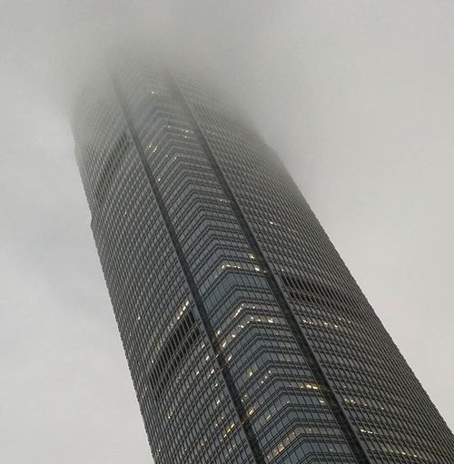 Meanwhile, in HongKong ... Fog IFC Nightfall