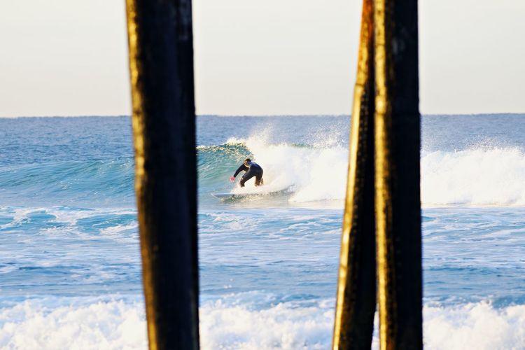 Water Sea Nature Motion Day Horizon Over Water Wave Outdoors Horizon Surfer California Coast