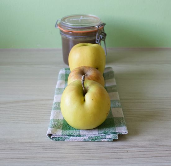 Healthy Eating Food Food And Drink Fruit Table Freshness Wellbeing Wood - Material Still Life Container Apple - Fruit No People Indoors  Jar Pear Close-up Banana High Angle View Green Color Vegetable