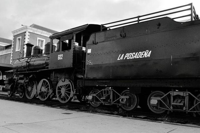 Old Train B&w Posadas Argentina Misiones