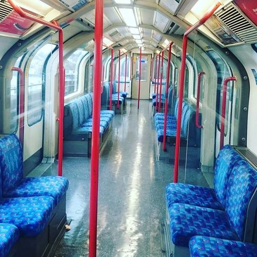 Empty central line carriage Empty Train Deserted @desertedlondon