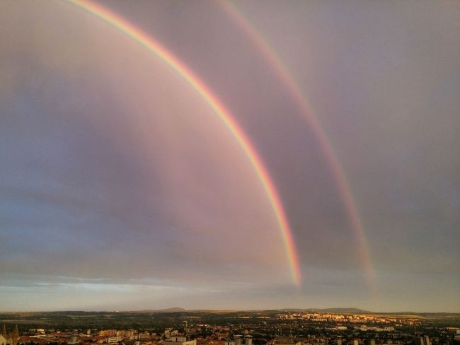 Pécs Overtherainbow Rainbow🌈 Rainbow Nofilter LGg3photography StairwaytoHeaven Skyporn Sky View View From Above God Harmony Mobilephotography Aftertherain