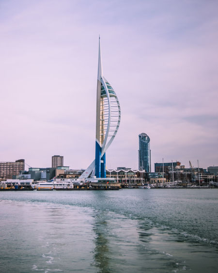 The spinnaker tower and gunwharf quays portsmouth