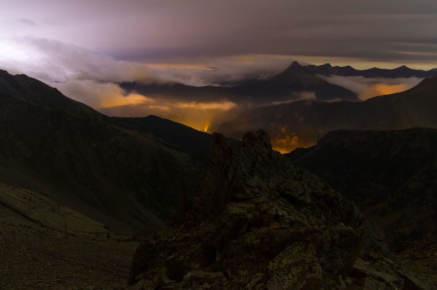 Heaven Light Light Pollution Nightphotography Storm Travel Alps Clouds Clouds Sea Inferno Landscape Lightning Mountain Nature Night Landscape No People Outdoors Peaks Scenics Sky