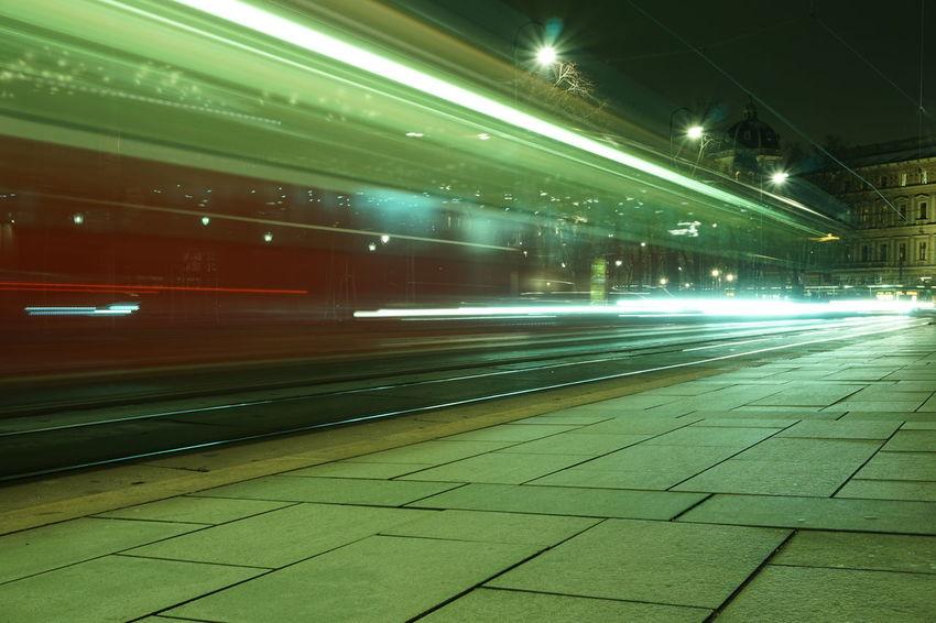 Vienna Ringstrasse Alt Bim Straßenbahn Bim Blurred Motion Streetcar Wien Public Transportation