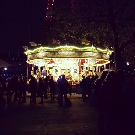A fun Night afair... Southbank Merrygoround Fun Londonatnight TravelTuesday Airheads Photooftheday Illumination Lights