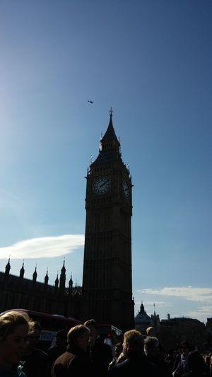LONDON❤ Blue Sky Houses Of Parliament Elizabethtower Bigben