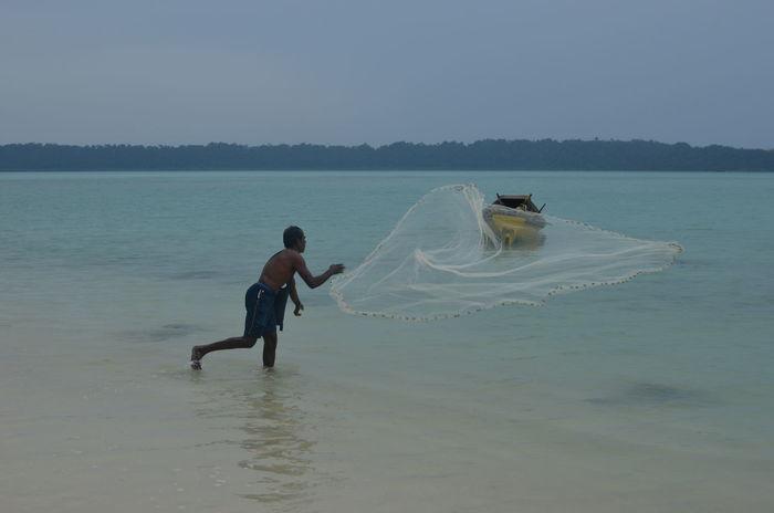 Andaman Andaman And Nicobar Islands Andamanislands Beach Fischerman Havelockisland India Indian Ocean
