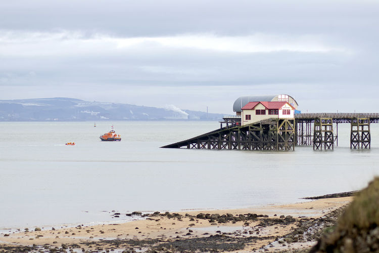 Water Sky Cloud - Sky Transportation Architecture Land Sea Nature Built Structure Day Beach Scenics - Nature Connection Beauty In Nature Bridge Nautical Vessel No People Travel Destinations Travel Bridge - Man Made Structure Outdoors Bay Mumbles Pier Mumbles Rnli RNLI