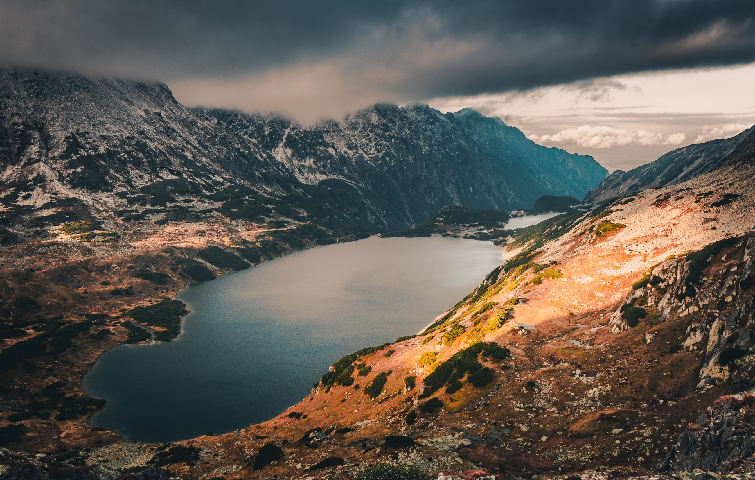 mountain, cloud - sky, scenics - nature, beauty in nature, sky, water, tranquil scene, tranquility, mountain range, no people, nature, idyllic, non-urban scene, environment, landscape, lake, geology, remote, outdoors, snowcapped mountain