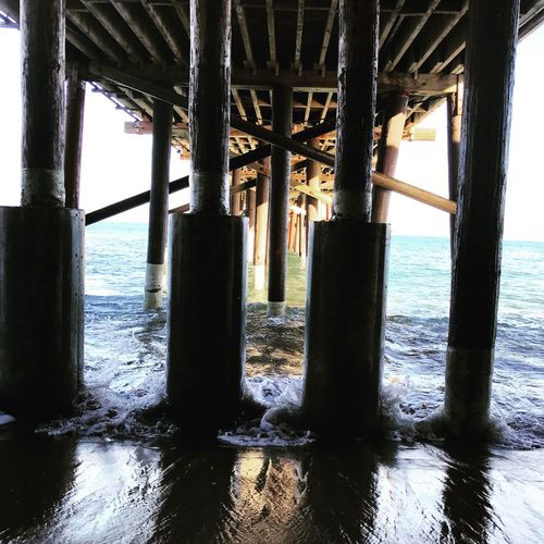 Mypointofview Malibu EyeEm Best Shots Ocean Underthepier Pier Architecture MalibuFarmCafe