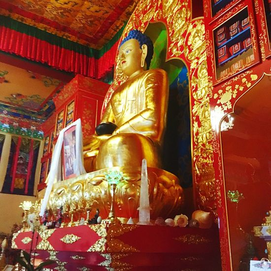 Buddha Temple - Building Human Representation Spirituality Buddhist Buddhist Temple Religion Sculpture Place Of Worship Art And Craft Buddha Art Indoors  Gold Colored Low Angle View Idol Gold Golden Color Creativity Large Gilded No People