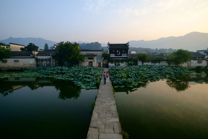 Hong cun Ancient Anhui China Anhui,China China Photos Travel Architecture Beauty In Nature Building Building Exterior Built Structure China Day History House Lake Nature No People Outdoors Plant Reflection Religion Sky The Past Tree Water EyeEmNewHere