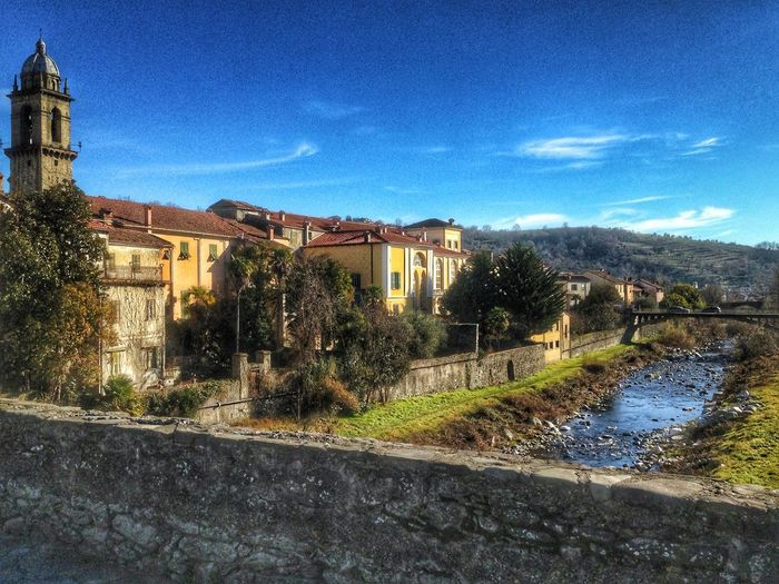 Sun HDR River Italy Borgo Antico