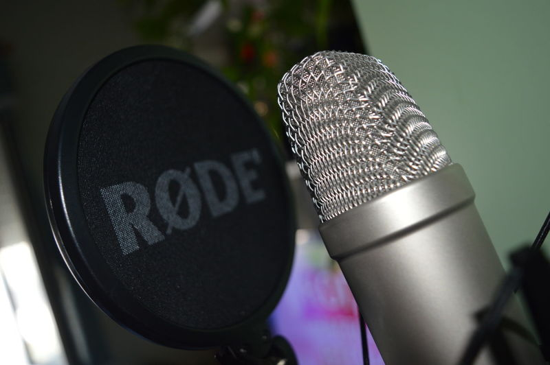 Mic Rode NT1A. Black Color Close-up Day Detail Focus On Foreground Man Made Object Microphone No People Part Of Recording Records Rode Selective Focus Still Life Studio Studio Shot