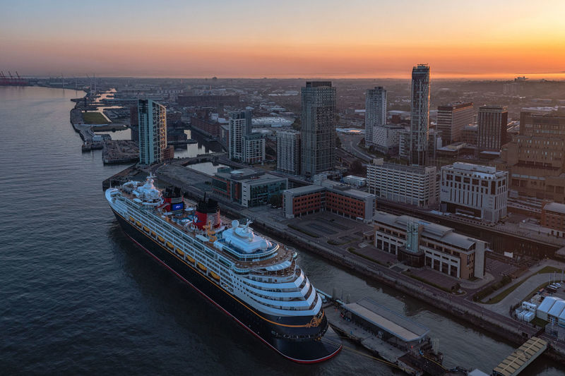 Cruise ship alongside at liverpool waterfront