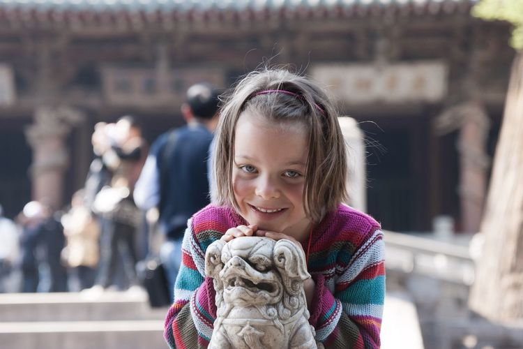 Child and the dog 3 Partner Collection Getty Images Premium Collection Premium Daughter Sculpture Dogs Childhood Child Portrait Girls Real People Headshot Smiling Focus On Foreground Cute Premium Collection Premium Daughter Sculpture Dogs Childhood Child Portrait Girls Real People Headshot Smiling Focus On Foreground Cute