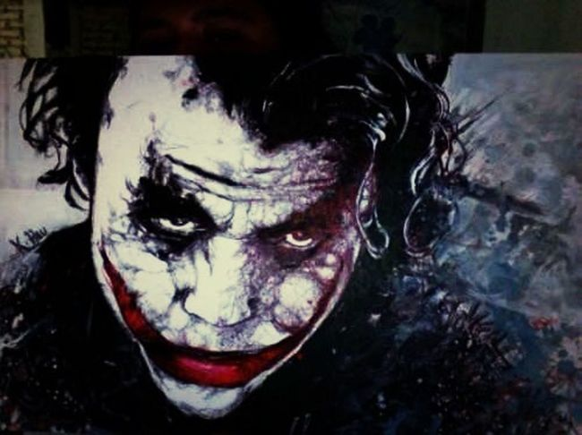 Joker ... Acrílico y tinta China Art Drawing Painting Sketch