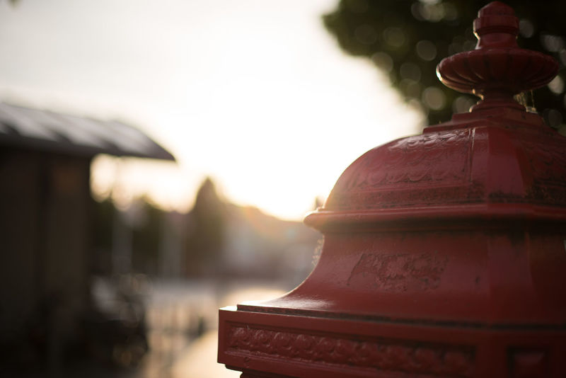 Bruges Brugge Brugge, Belgium Focus On Foreground Outdoors Post Postbox Red Red Post Box Selective Focus Sunset