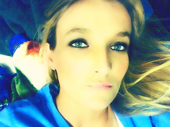 Blue Eyes <3 Bedroomeyes Self Portrait Seductive Goddess Seduction Beauty Model Sweetheart That's Me