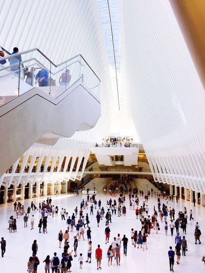 The Oculus Westfield GroundZero NYC Photography 9/11 Memorial World Trade Center Shoppers Tourists Spectators
